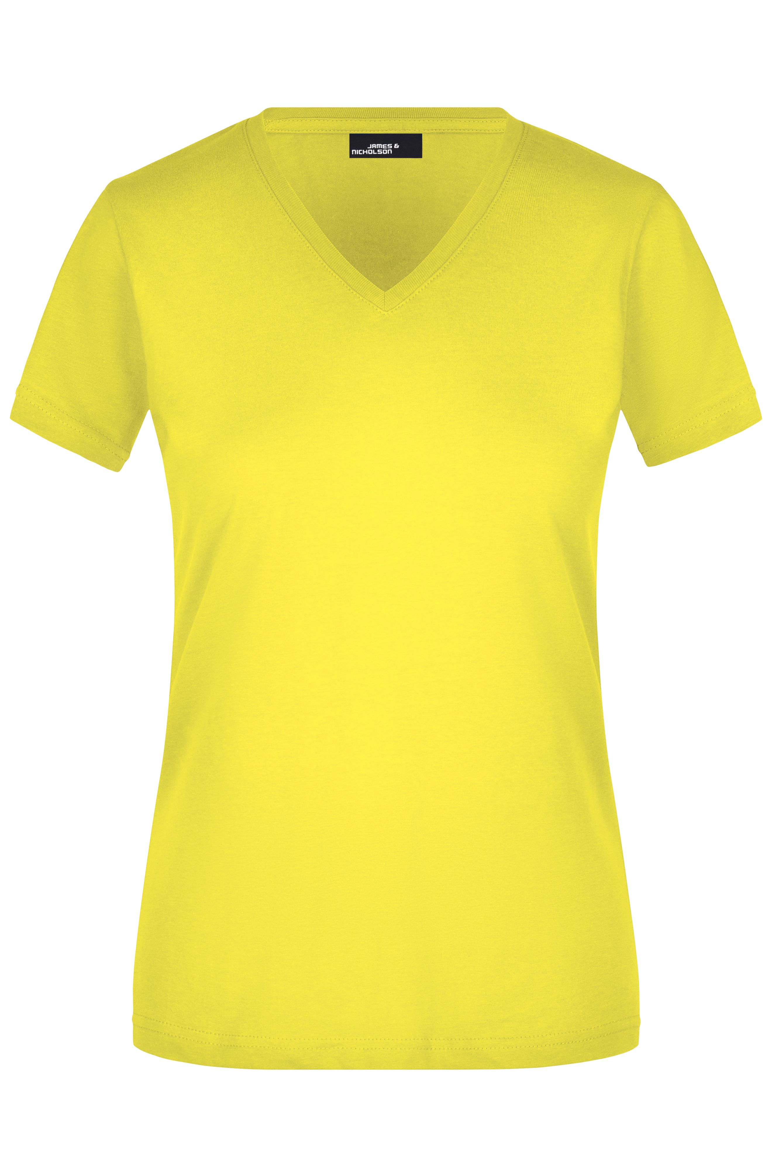 Figurbetontes V-Neck-T-Shirt
