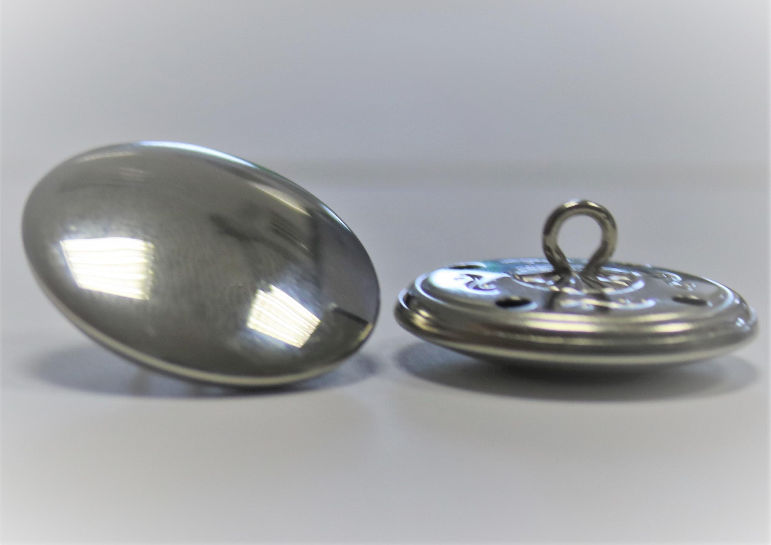 Silberknopf metall für Kittel Eppendorf und Düsseldorf