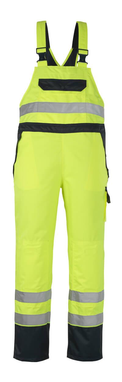 MASCOT® Wels Überziehlatzhose Größe S, hi-vis gelb/marine