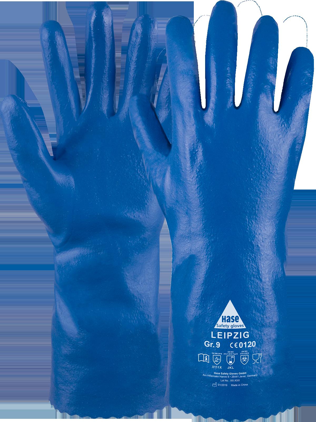 LEIPZIG, Chemikalienschutzhandschuh Typ B aus BW/Nitril, Größe 10