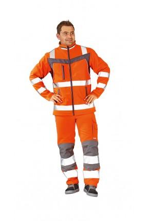 Plaline Warnschutz Softshelljacke orange/schiefer 8XL