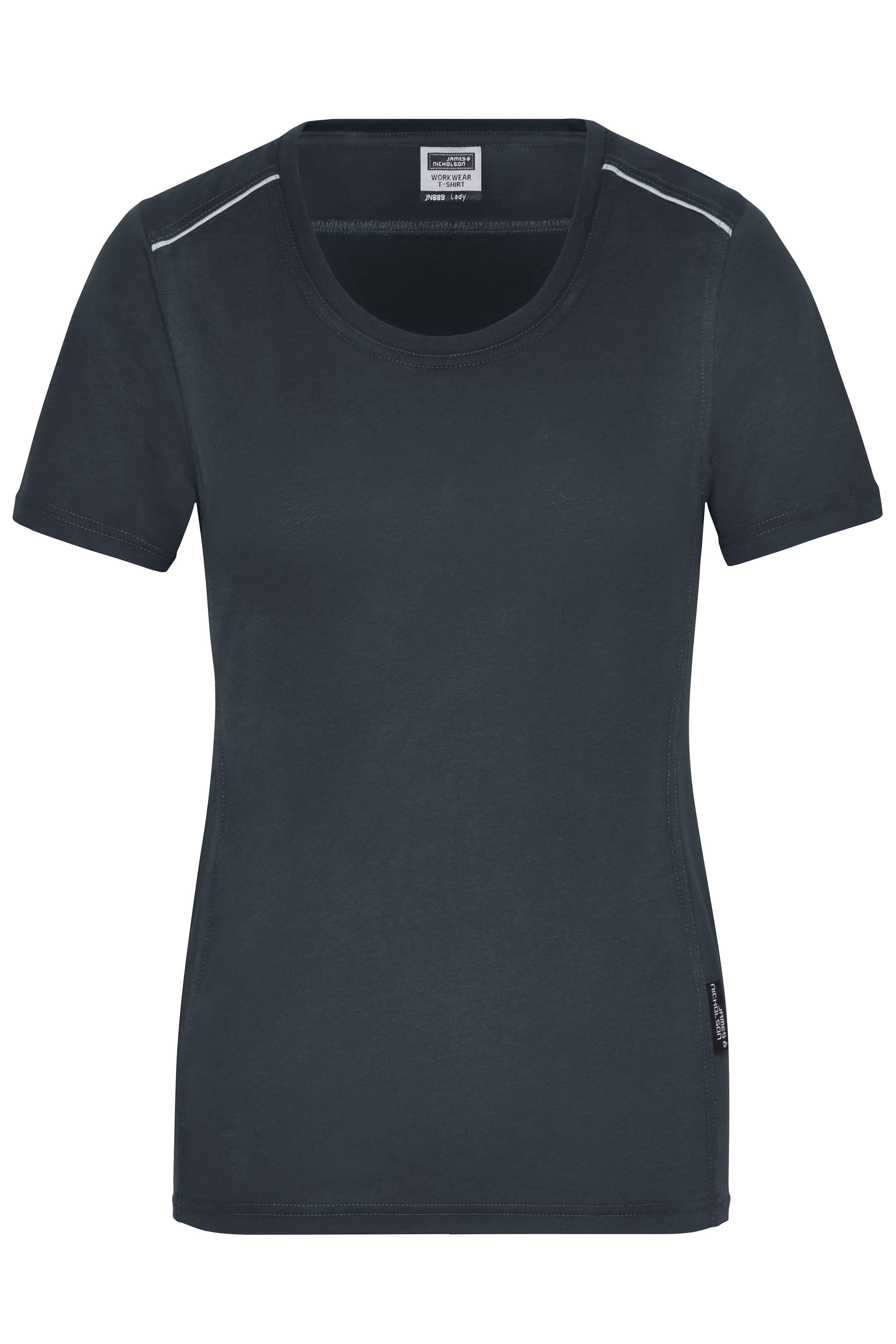 Strapazierfähiges und pflegeleichtes T-shirt mit Kontrastpaspel