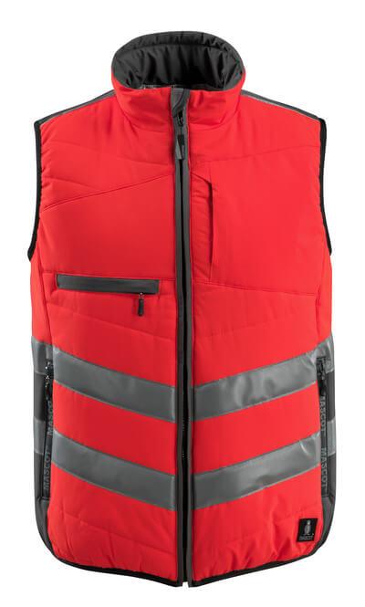 MASCOT® Grimsby Thermoweste Größe XL, hi-vis rot/dunkelanthrazit