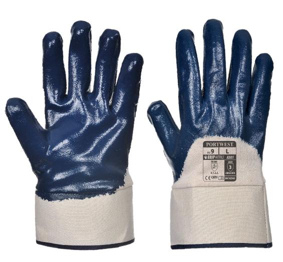 NITRIL SAFETY CUFF HANDSCHUH - A301