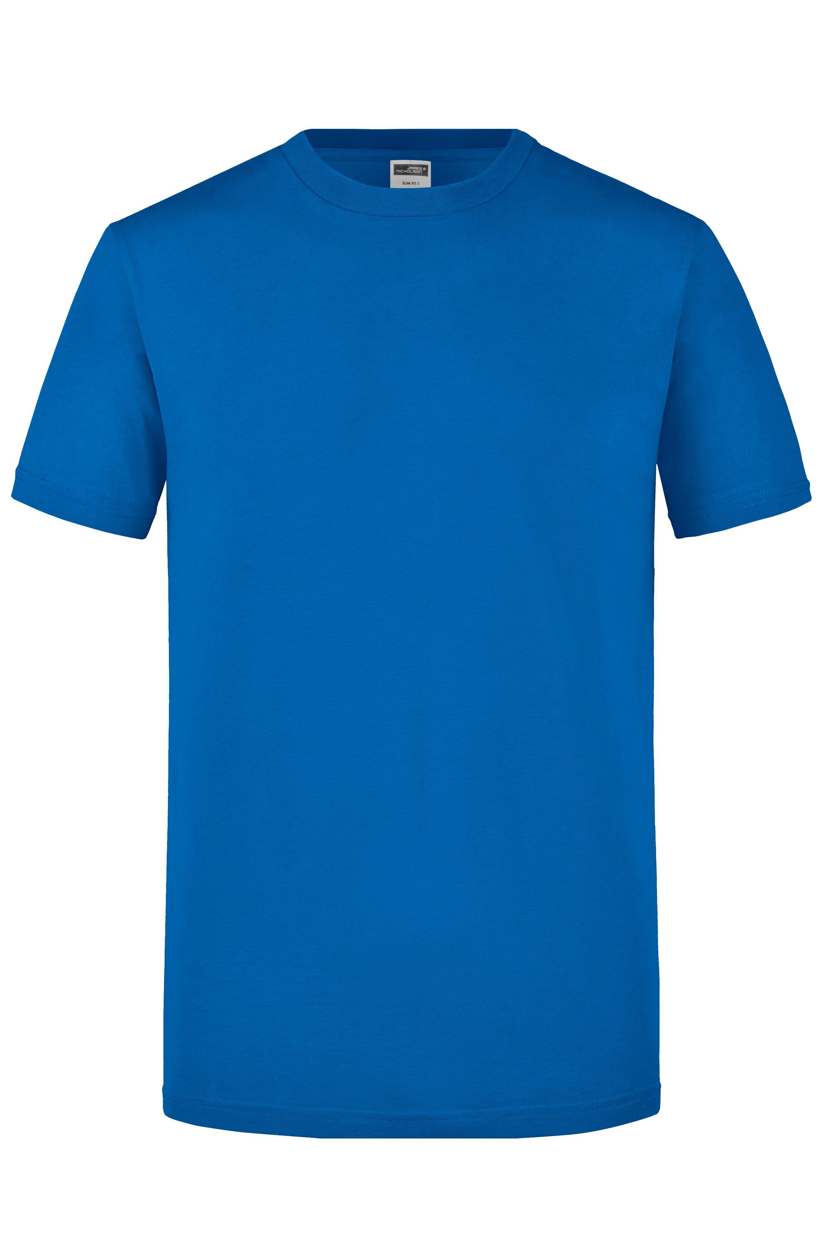 Figurbetontes Rundhals-T-Shirt