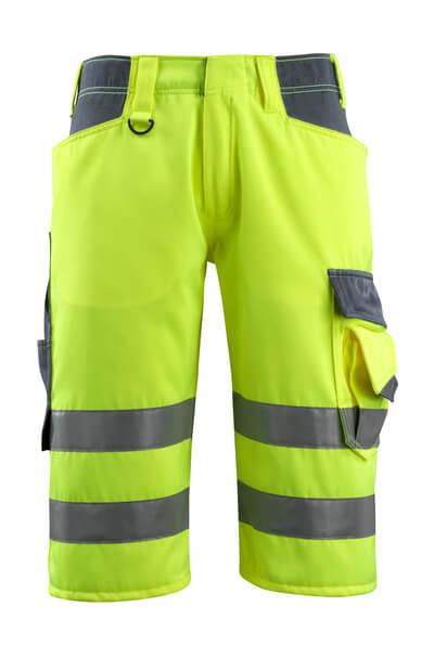 MASCOT® Luton Dreiviertel-Hose Größe C52, hi-vis gelb/schwarzblau