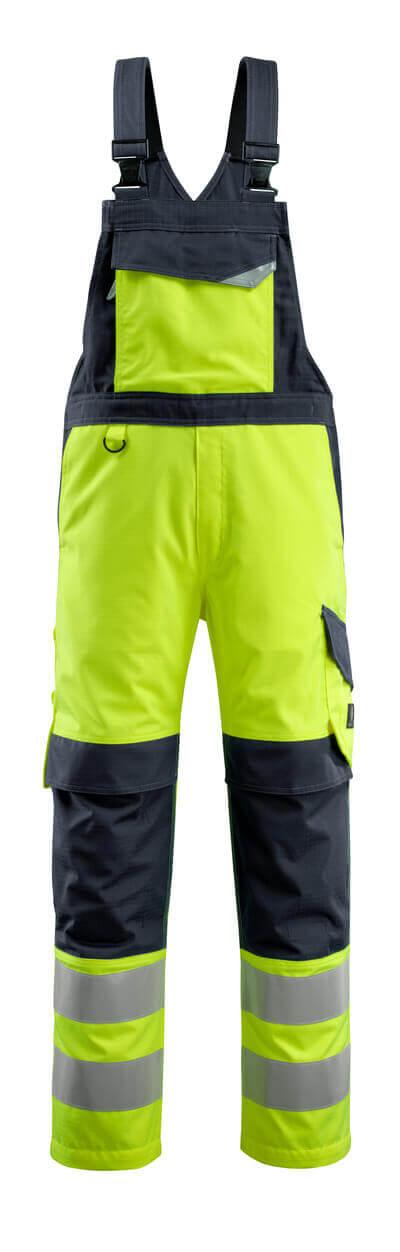 MASCOT® Davos Latzhose Multisafe Größe 90C48, hi-vis gelb/schwarzblau