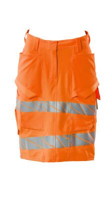 Rock, DIAMOND, Vier-Wege-Stretchstoff Röcke Größe C50, hi-vis orange
