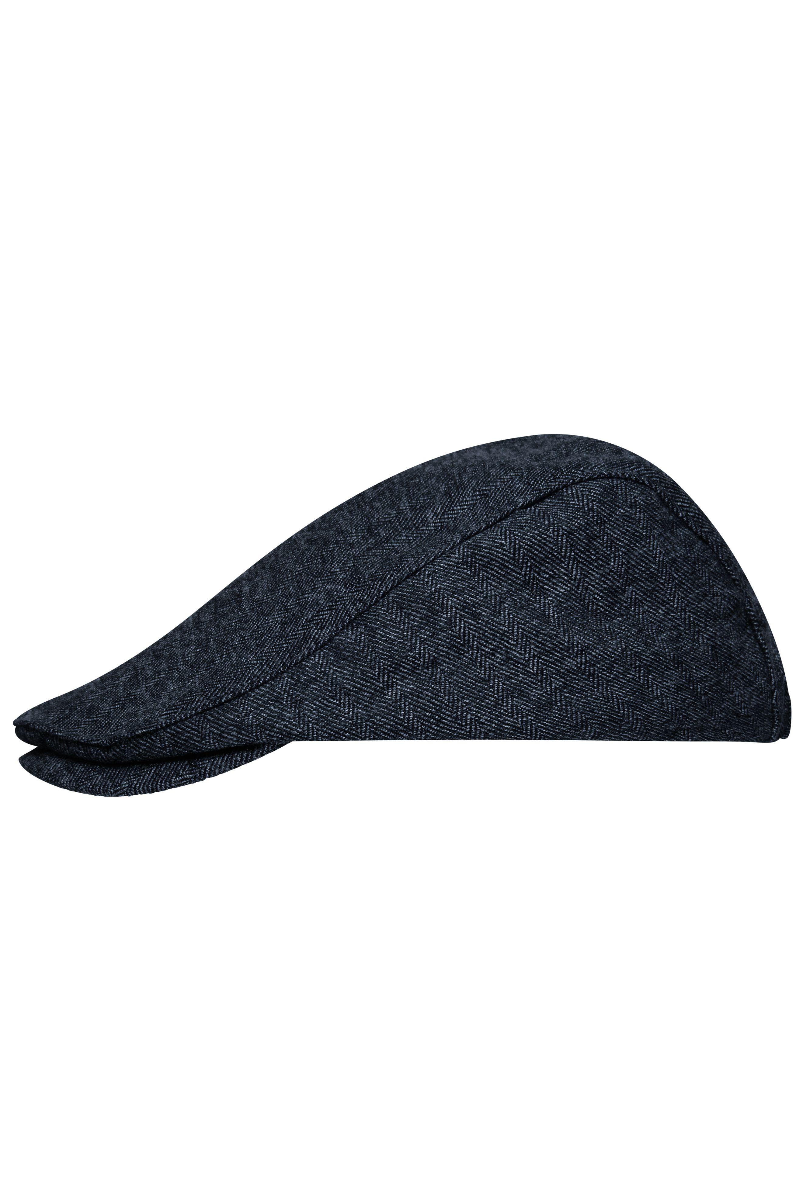 Flache Mütze mit verdeckt genähtem Schild