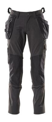 Hose, Hängetaschen, Stretch Hose Größe 82C47, schwarz