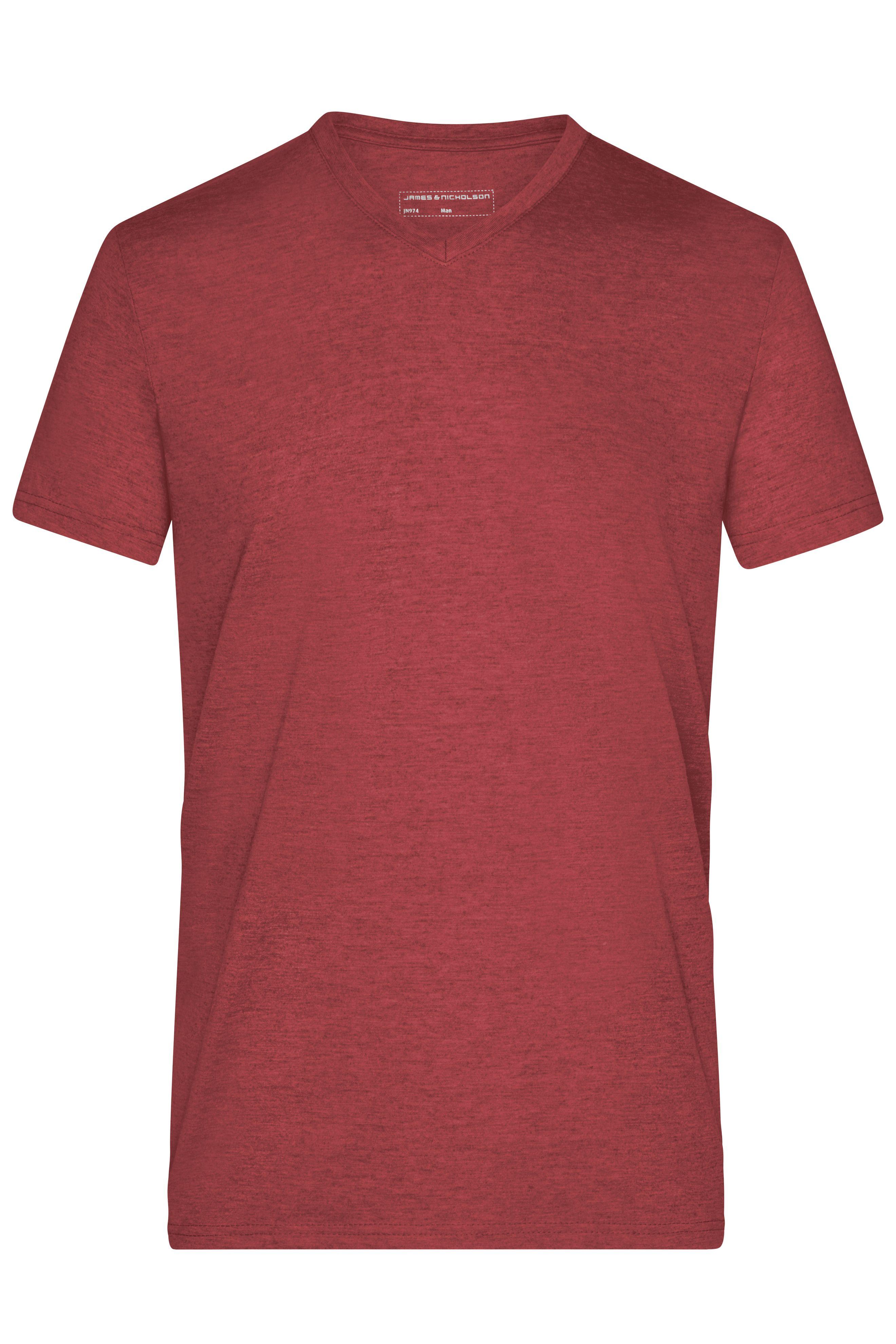 Modisches T-Shirt mit V-Ausschnitt