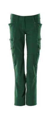 Hose, Damenpassform, Pearl, Stretch Hose Größe 76C54, grün
