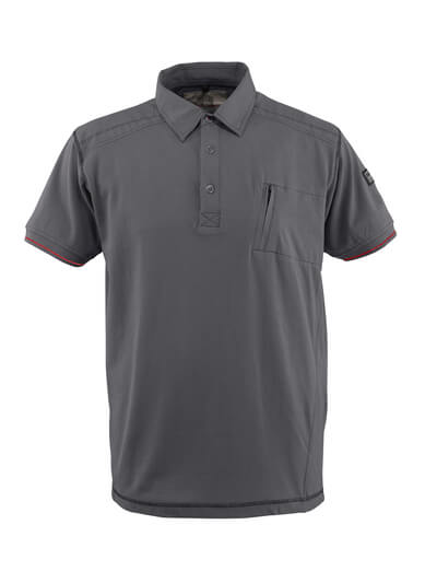 MASCOT® Kreta Polo-shirt Größe S, hellanthrazit