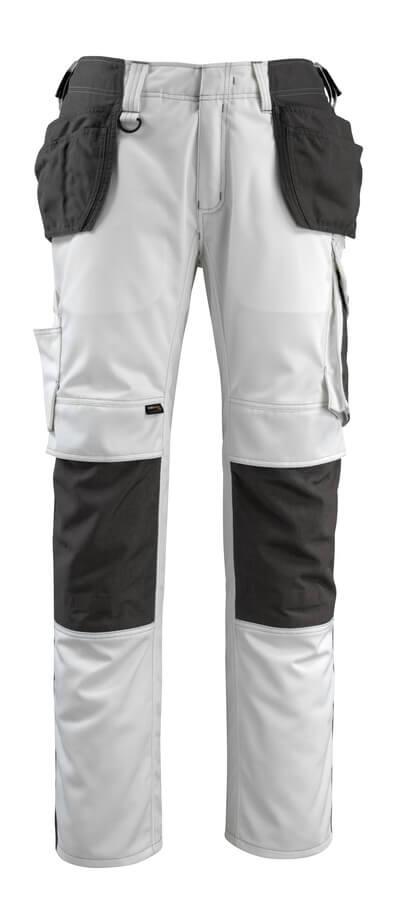 MASCOT® Bremen Handwerkerhose Größe 90C60, weiss/dunkelanthrazit