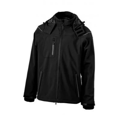 Winter Softshell Jacke (schwarz)