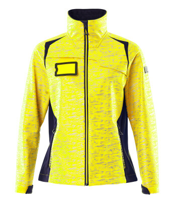 Soft Shell Jacke, Reflexeffekte, Damen Soft Shell Jacke Größe M, hi-vis gelb/schwarzblau