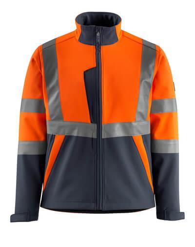 MASCOT® Kiama Soft Shell Jacke Größe XL, hi-vis orange/schwarzblau