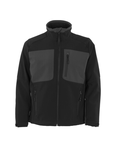 MASCOT® Lagos Soft Shell Jacke Größe 3XL, schwarz/dunkelanthrazit
