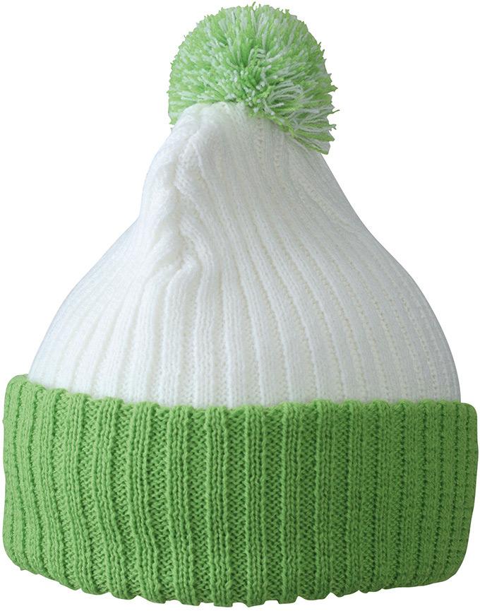 Trendige Pomponmütze in vielen Farben
