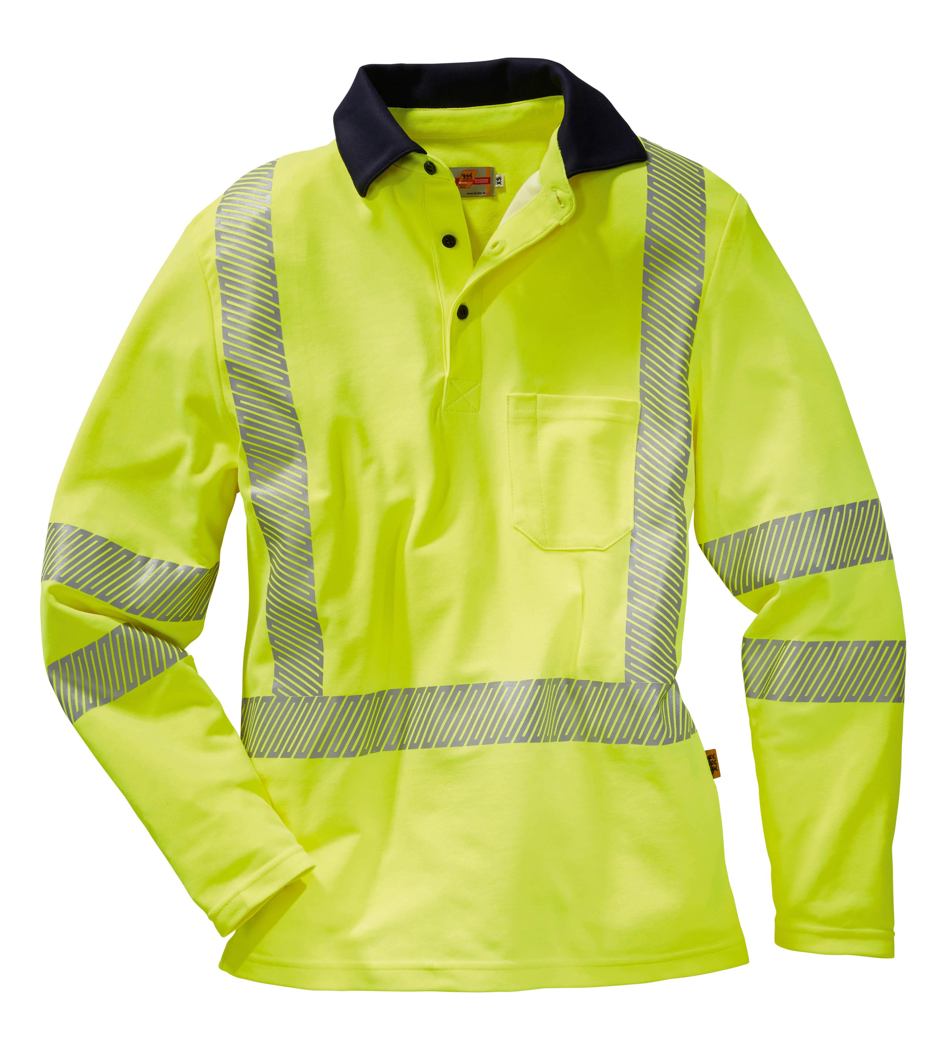 Warnschutz Poloshirt ISO EN20471 Klasse 2,  1/1 Arm