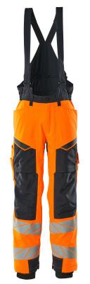 Winterhose mit Knietaschen, CLIMASCOT® Winterhose Größe L, hi-vis orange/schwarzblau