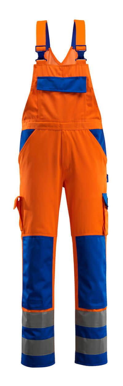 MASCOT® Barras Latzhose Größe 82C66, hi-vis orange/kornblau