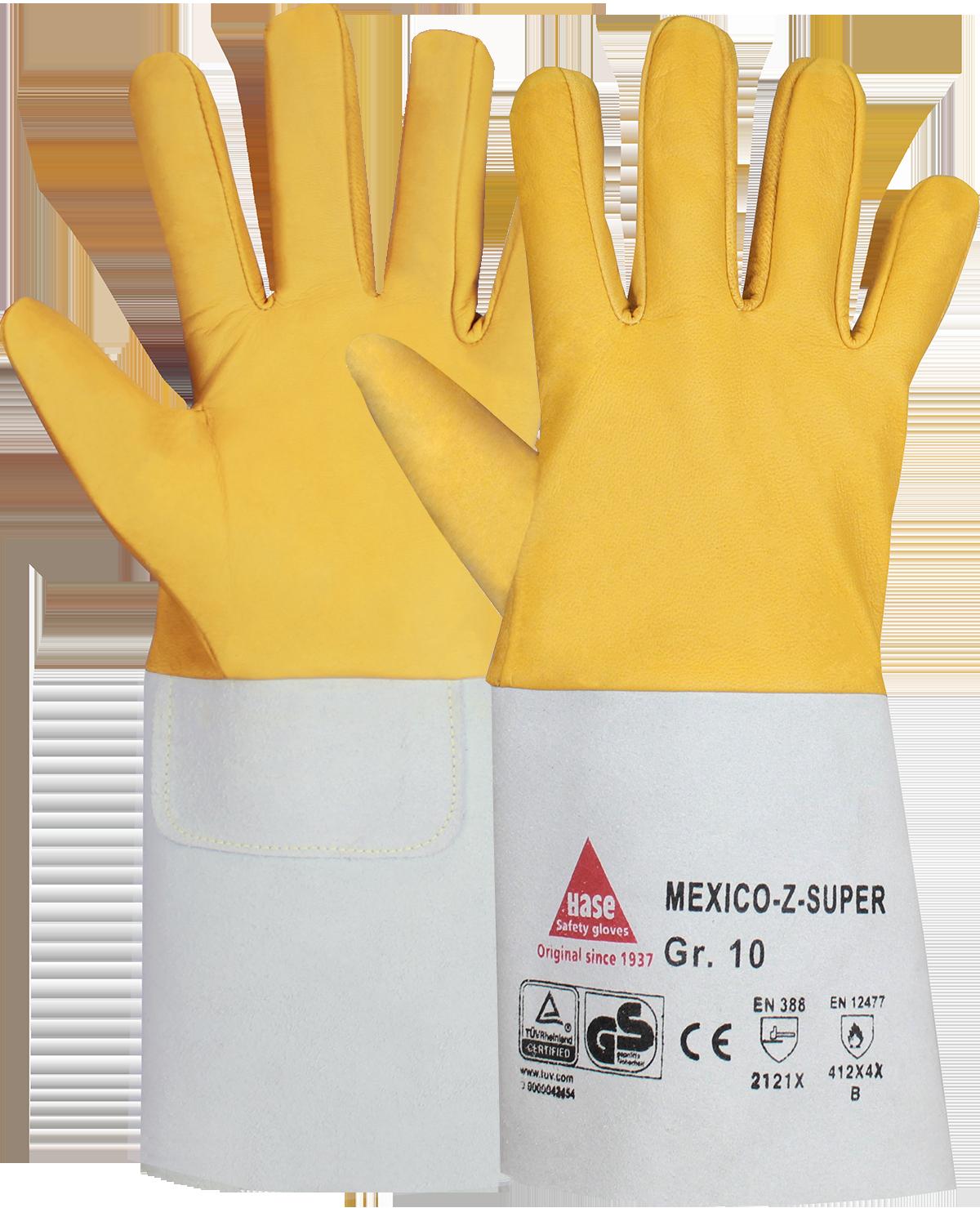 MEXICO-Z-SUPER, Schweißerhandschuh aus Ziegennappaleder, Größe 9