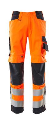 Hose mit Knietaschen Hose Größe 82C52, hi-vis orange/schwarzblau