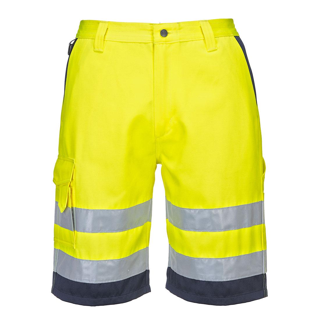 Warnschutz-Short aus Polyester-Baumwollgemisch E043