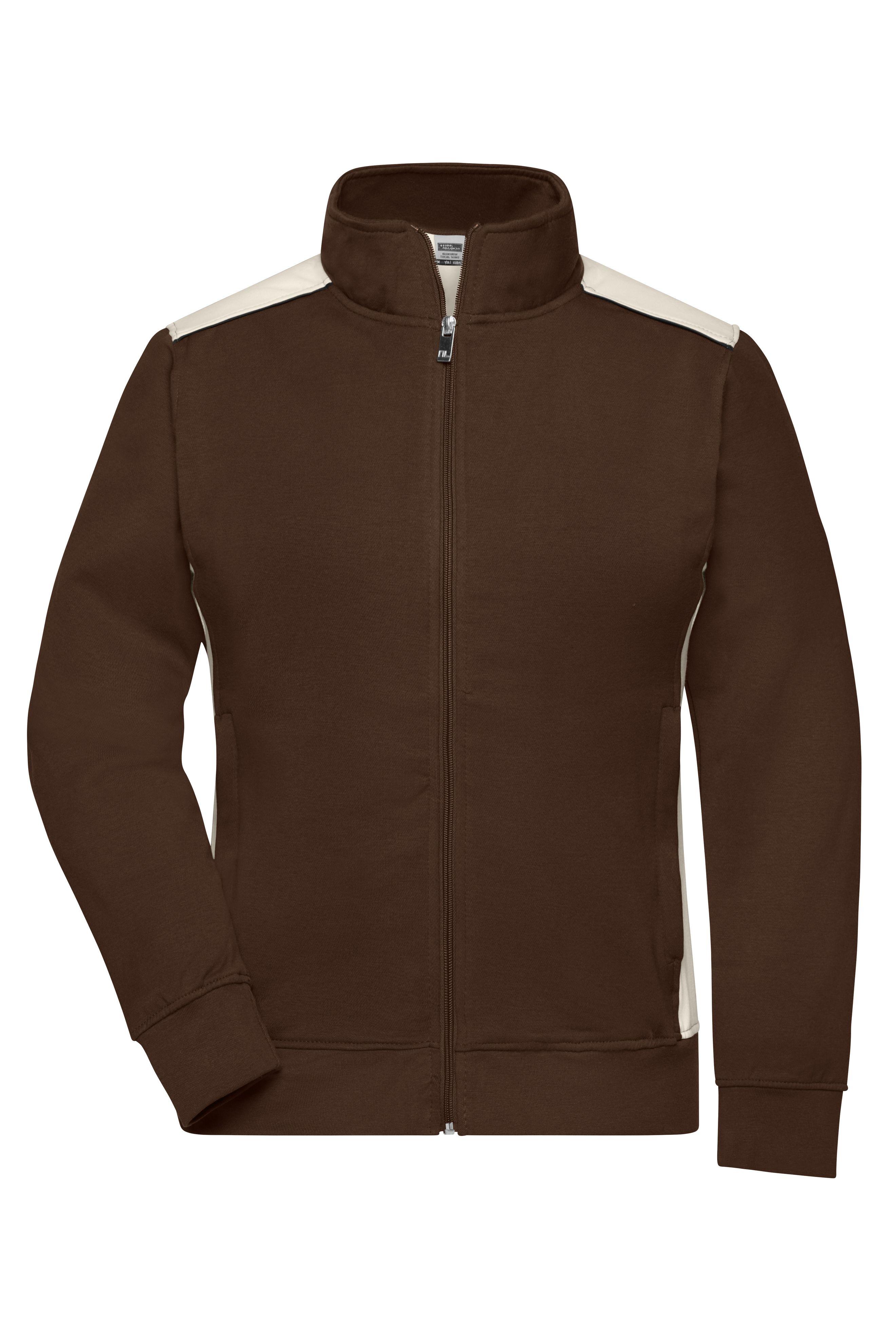 Sweat-Jacke mit Stehkragen und Kontrasteinsätzen