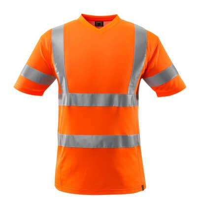 T-Shirt, V-Ausschnitt T-shirt Größe 3XL, hi-vis orange