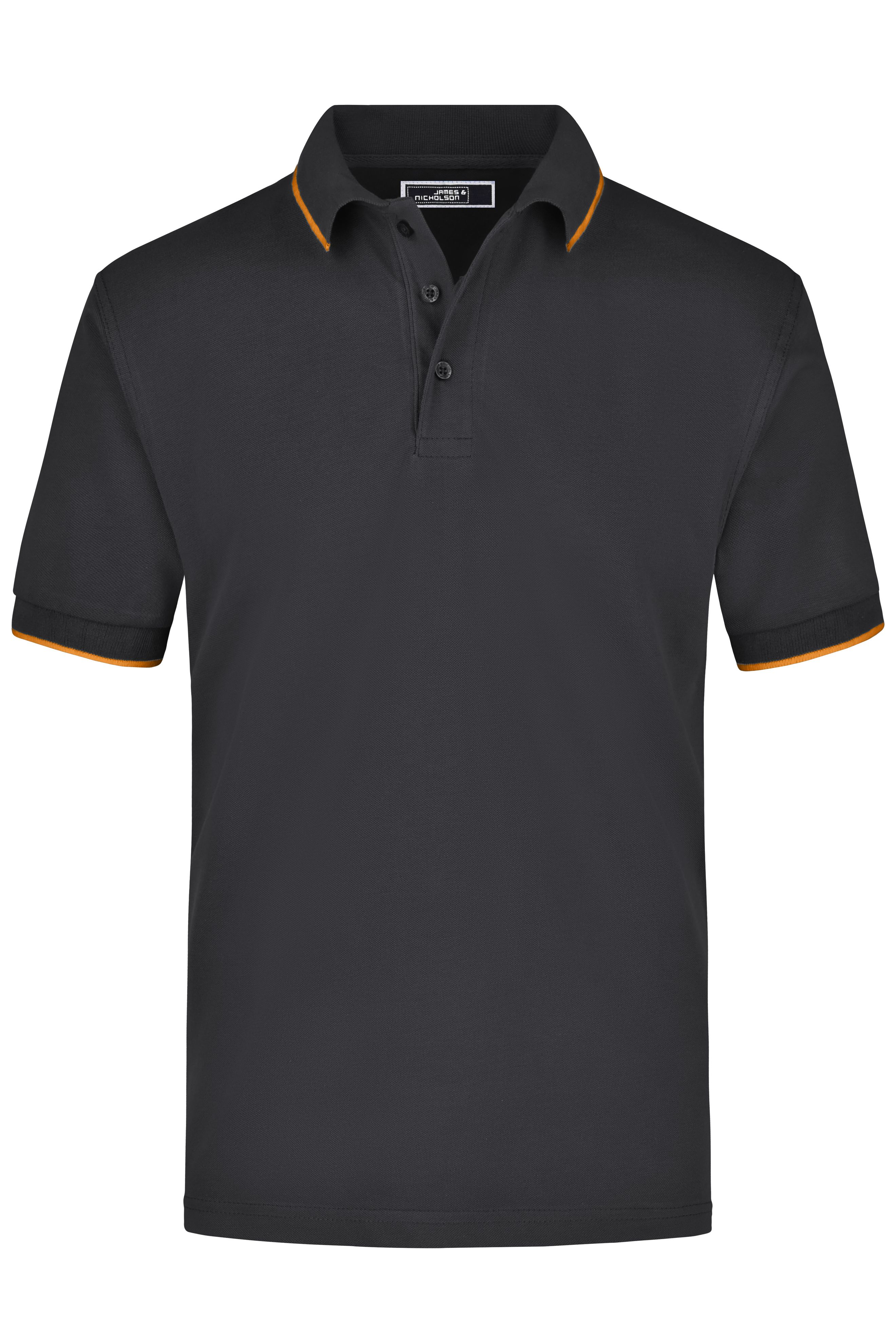 Hochwertiges Piqué-Polohemd mit Kontraststreifen