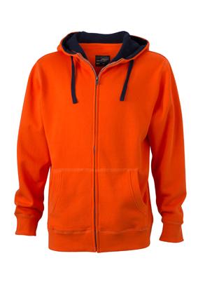 Sweat-Jacke mit Reißverschluss und Kapuze