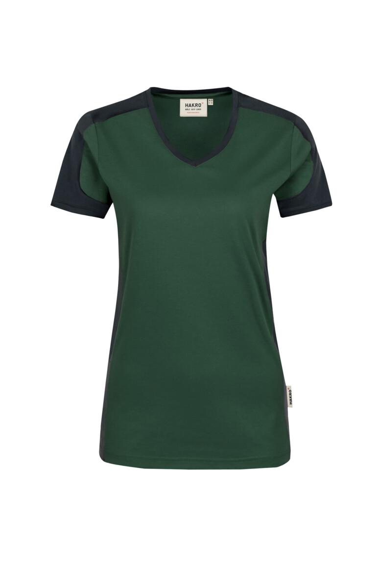 HAKRO Damen V-Shirt Contrast Mikralinar®