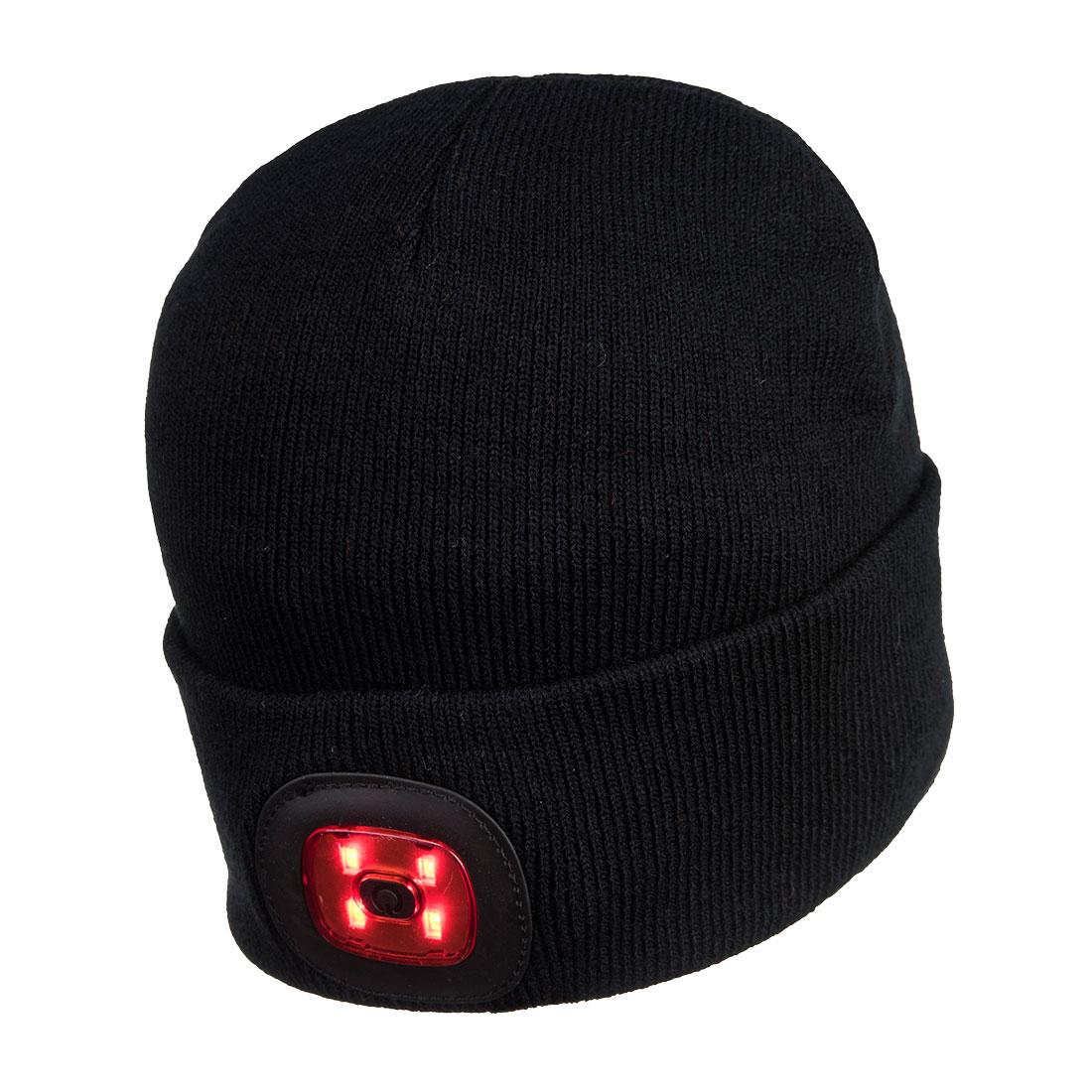 Mütze mit wiederaufladbaren LED - Leuchten vorn und hinter