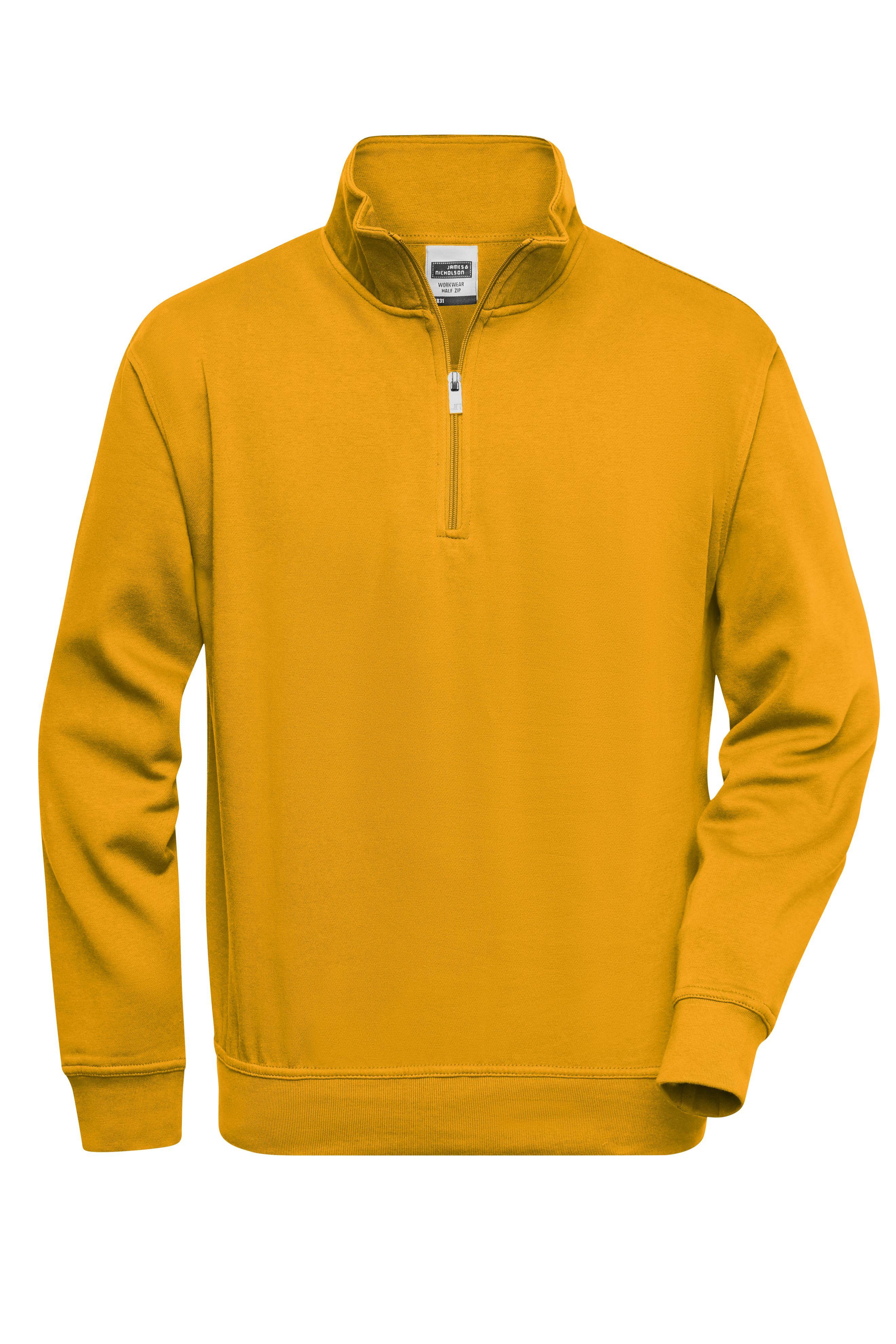 Sweatshirt mit Stehkragen und Reißverschluss