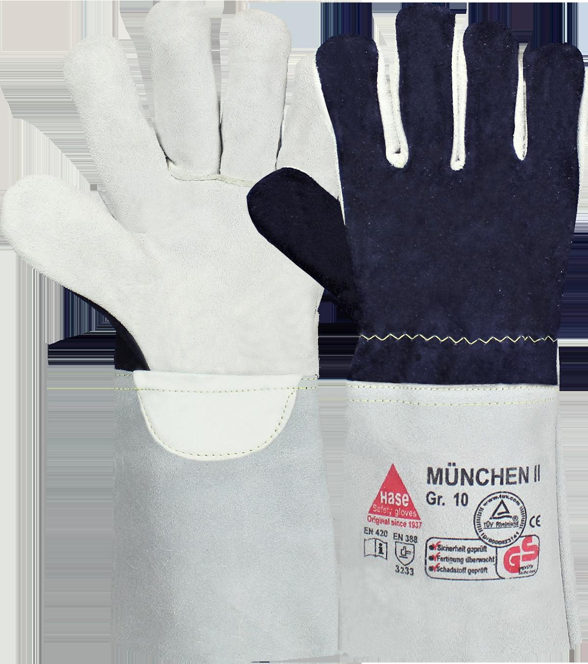 MÜNCHEN II, Arbeitshandschuh schnittfest aus Rindleder, Größe 10
