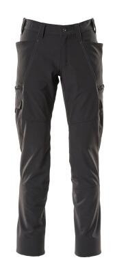 Hose, Schenkeltaschen, Stretch Hose Größe 90C46, schwarz