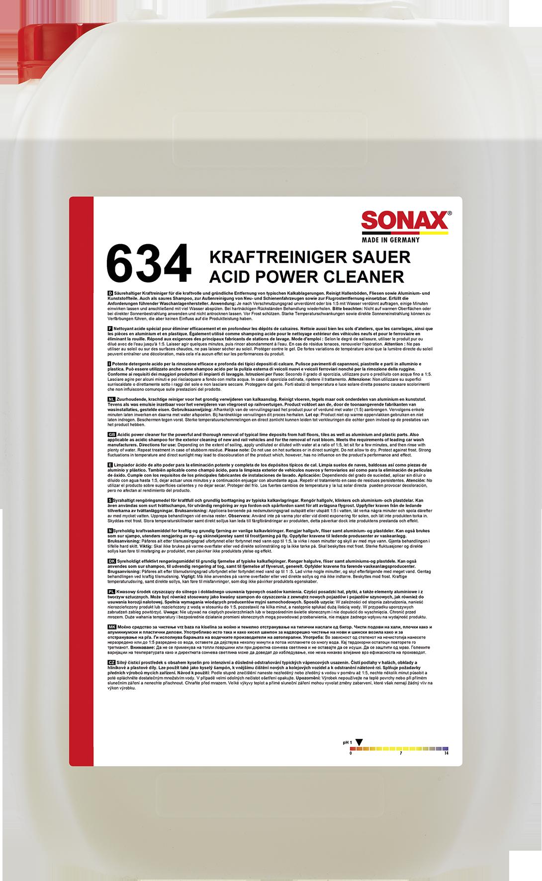 SONAX 06347050  KraftReiniger sauer/Acid Power Cleaner 25 l