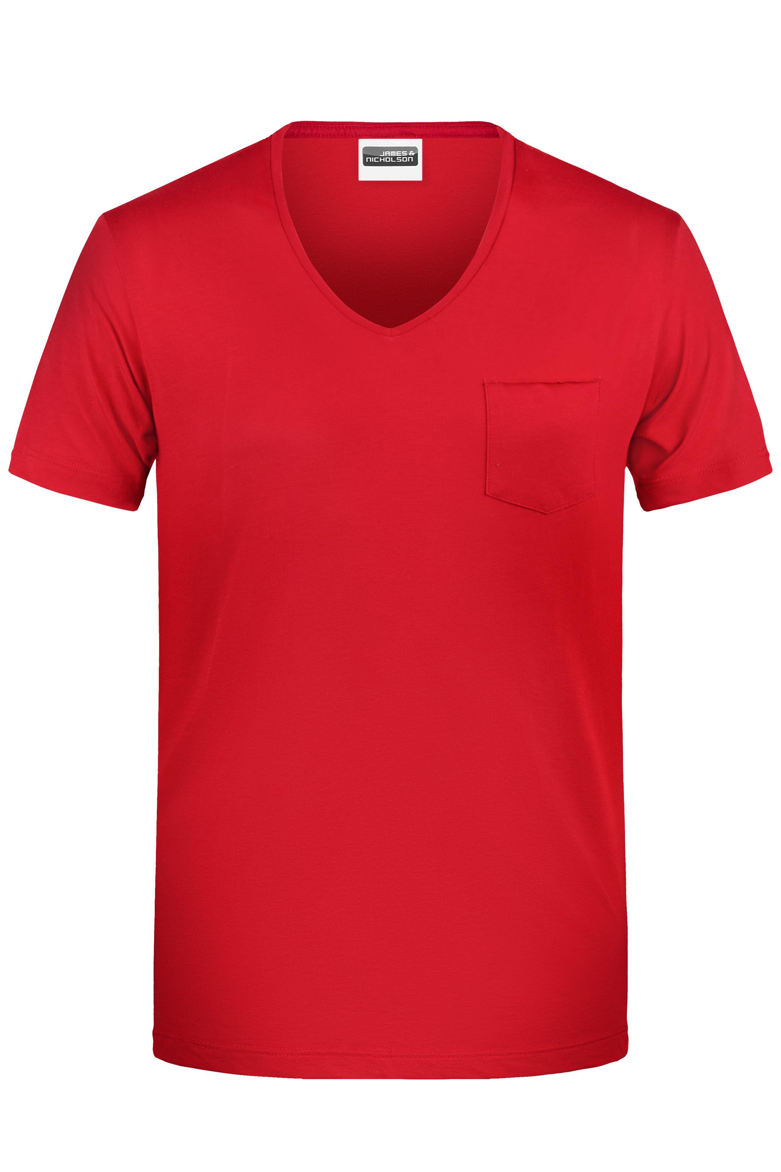 Herren T-Shirt mit modischer Brusttasche