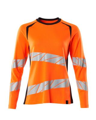 T-Shirt, Langarm, Damenpassform T-shirt Größe 3XLONE, hi-vis orange/dunkelanthrazit