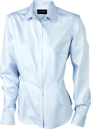 Bügelleichte Langarm Damen-Bluse für Business und City