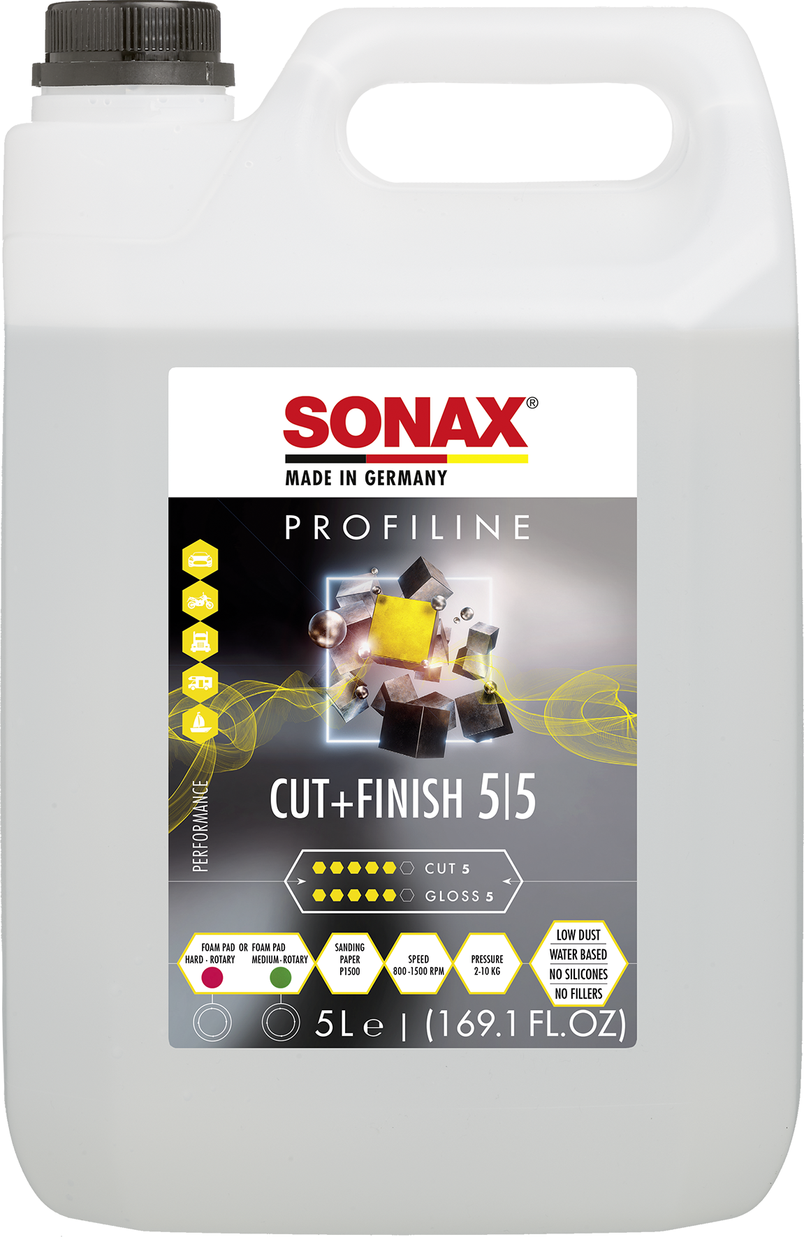 SONAX 02255000  PROFILINE Cut+Finish 5 l