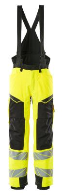 Winterhose mit Knietaschen, CLIMASCOT® Winterhose Größe 3XL, hi-vis gelb/schwarz