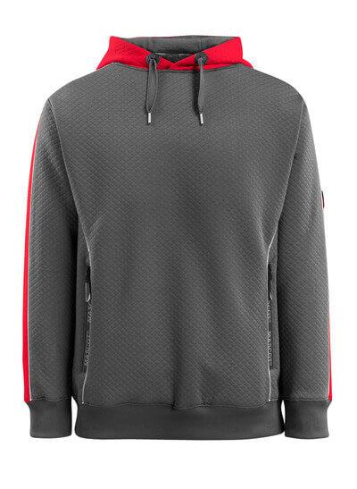 MASCOT® Motril Kapuzensweatshirt Größe 2XL, dunkelanthrazit/hi-vis rot