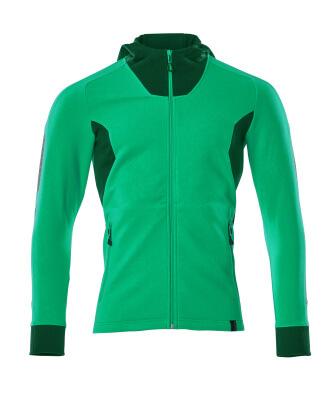 Sweatshirt mit Kapuze, moderne Passform Sweatshirt mit Reißverschluss Größe XL ONE, grasgrün/grün