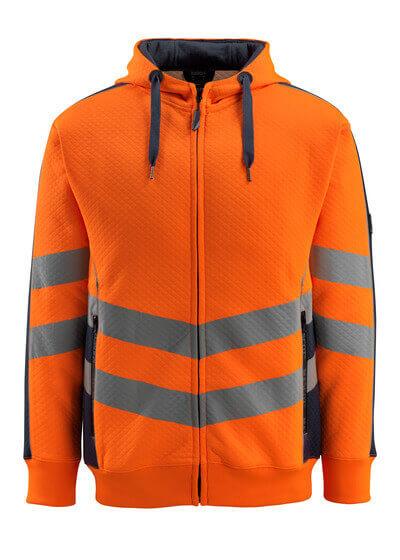 MASCOT® Corby Kapuzensweatshirt Größe 3XL, hi-vis orange/schwarzblau