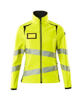 Soft Shell Jacke, Damenpassform Soft Shell Jacke Größe 2XL, hi-vis gelb/schwarz