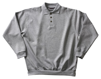 MASCOT® Trinidad Polo-sweatshirt Größe L, grau-meliert