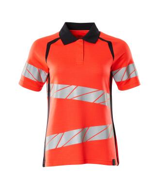 Polo-Shirt, Damenpassform Polo-shirt Größe XS ONE, Hi-vis rot/schwarzblau